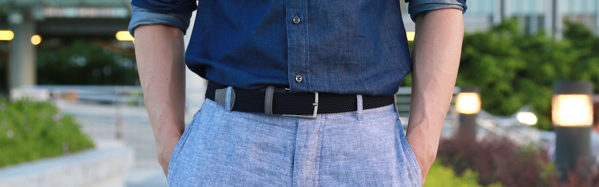 Vegan belts and suspenders