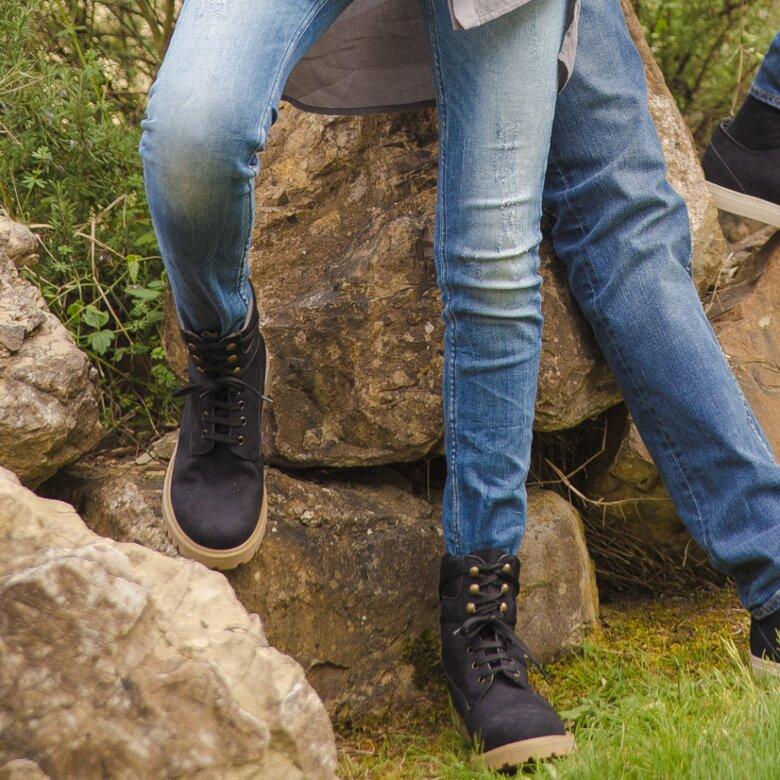 Claudia & Claudio suede blu